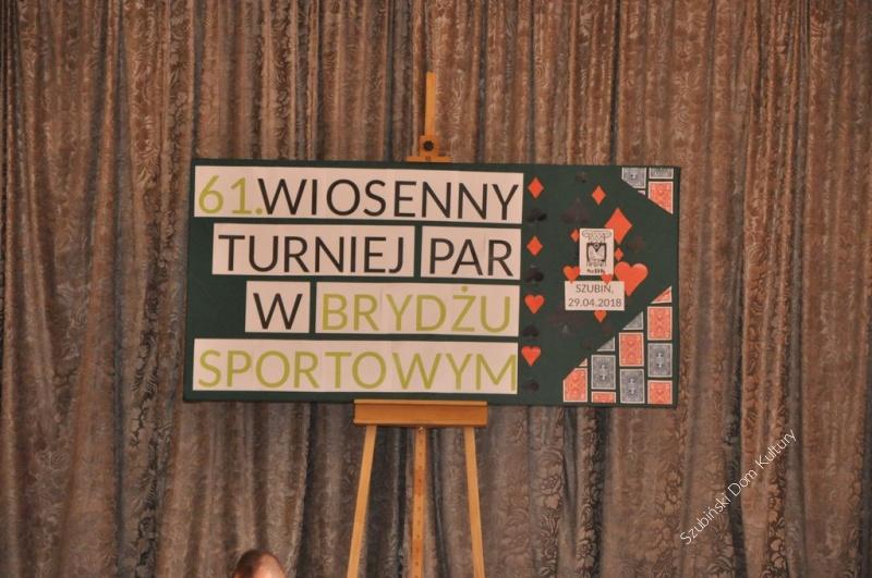 61. Wiosenny Turniej w Brydżu Sportowym