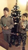 Ozdoby świąteczne w świetlicy w Samoklęskach Dużych