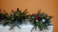 Świąteczne stroiki w świetlicy w Chraplewie